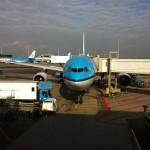 Enfin un vol via Amsterdam et KLM, la veille du vernissage, 3 jours de retard