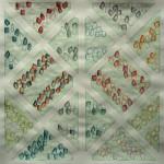 LaureTixier_Potager, semis dispersé sur rang large, 2009, aquarelle sur papier, 42 x 42,4 cm, collection FDAC Domaine de Chamarande