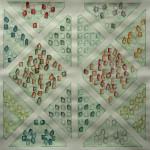 LaureTixier_Potager, semis mélangés, 2009, aquarelle sur papier, 42 x 42,4 cm, collection FDAC Domaine de Chamarande