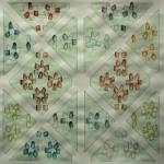 LaureTixier_Potager, semis circulaire, 2009, aquarelle sur papier, 42 x 42,4 cm, collection FDAC Domaine de Chamarande