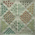 LaureTixier_Potager, semis en ligne, 2009, aquarelle sur papier, 42 x 42,4 cm, collection FDAC Domaine de Chamarande