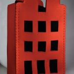 LaureTixier_Plaid House, 2008, feutre rouge,  85 x 100 x 230 cm, collection Mudam Luxembourg, photo © Remi Villaggi 2009