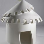 LaureTixier_Plaid House, 2008, feutre blanc, 150 x 150 cm, collection Mudam luxembourg, photo © Remi Villaggi 2009