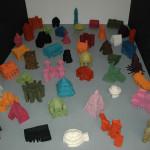 LaureTixier_Plaid Houses, 48 maquettes à l'échelle 1/10, galerie Polaris, 2009