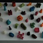 LaureTixier_Plaid Houses, maquettes, feutre, musée du feutre, Mouzon, 2009