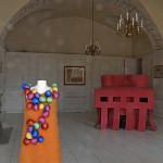 LaureTixier_Plaid House, feutre rose, exposition Et si la Guirlande de Julie était en laine, curator Yves Sabourin, Château de Rambouillet, 2010