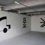 LaureTixier_Map with a view, peinture murale, dimension variable,  ISBA Besançon, La Belle Échappée, 2015 (Commissariat Barbara Polla)