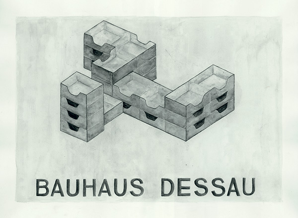 LaureTixier_Bauhaus : model for social dog's habitation, 1996
