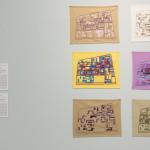 LaureTixier_Radar au fil du temps, 2014  Embroiderers: Fadma Bamarouf (1972), Sylvie Ziane (2000), Fatima Ouahid (2005), Jemia Chelkine (2006), Hasna Bamarouf (2007), Naïma Guessouss (2014) Séries of 6 embroideries photo © Walid Rashid